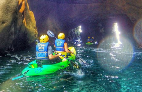 Kayaking in San Diego Caves