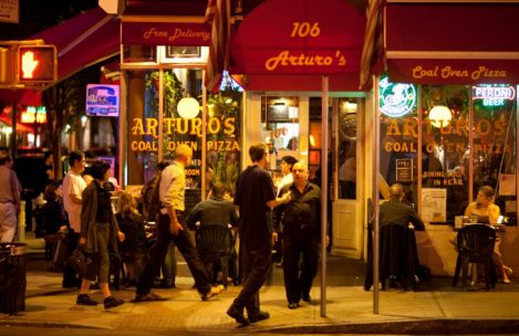 Arturo's Pizza NYC, a Classic Coal-Oven Pizza Parlor and Live Music